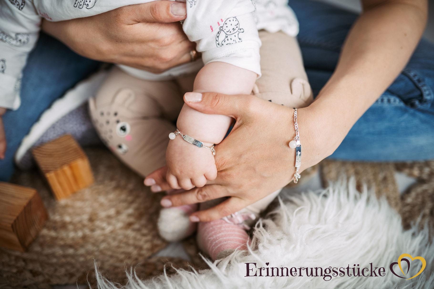ID-Armband mit Muttermilchperle